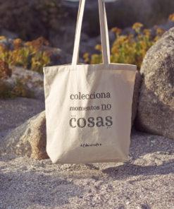tote bag colecciona momentos no cosas