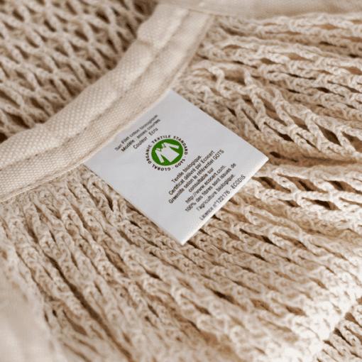 bolsa de red algodon organico crudo