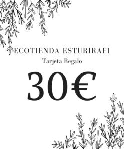 tarjeta regalo ecotienda esturirafi 30€