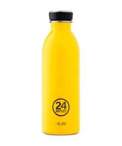 botella acero inoxidable amarilla 500ml