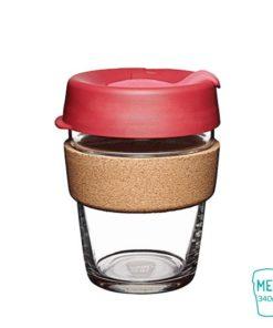 keep cup thermal taza vidrio corcho mediana