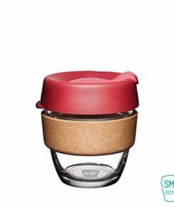 keep cup thermal taza vidrio corcho pequeña