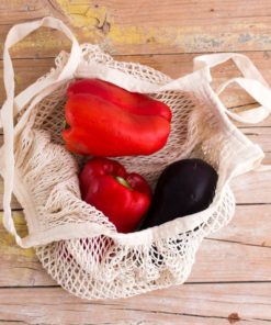 bolsa red asa larga algodón organico