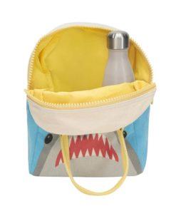 mochila almuerzo cremallera niños tiburon
