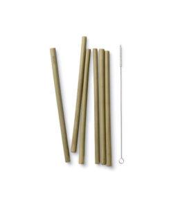 pajitas bambu limpiador