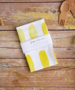 servilletas algodon organico amarilla
