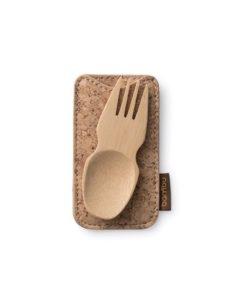 cuchara tenedor bambu funda de corcho