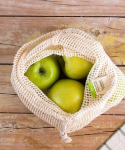 bolsa malla algodon organico mediana
