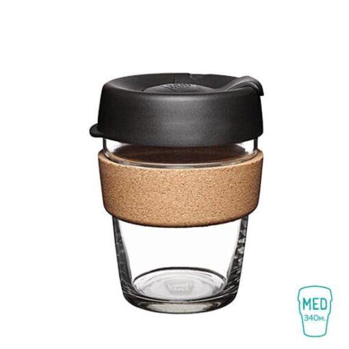 keep cup expresso taza vidrio corcho mediana