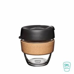 keep cup expresso taza vidrio corcho pequeña