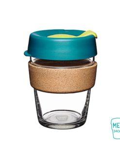 keep cup turbine taza vidrio corcho mediana