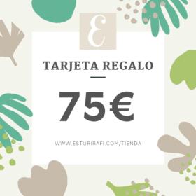 tarjeta regalo 75€ tienda zero waste esturirafi