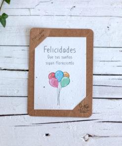 postal semillas felicidades