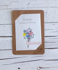 postal semillas gracias