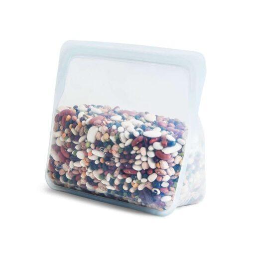 Stasher Bag Stand Up - Bolsa de silicona platino reutilizable