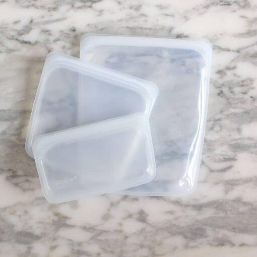pack zero waste bolsas de silicona platino