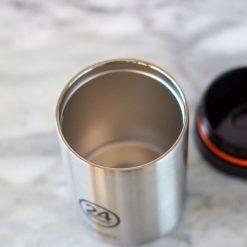 vaso termo de acero inoxidable reutilizable