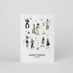postal semillas plantable feliz cumpleaños