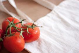 Bolsas de tela reutilizable para comprar fruta y verduras