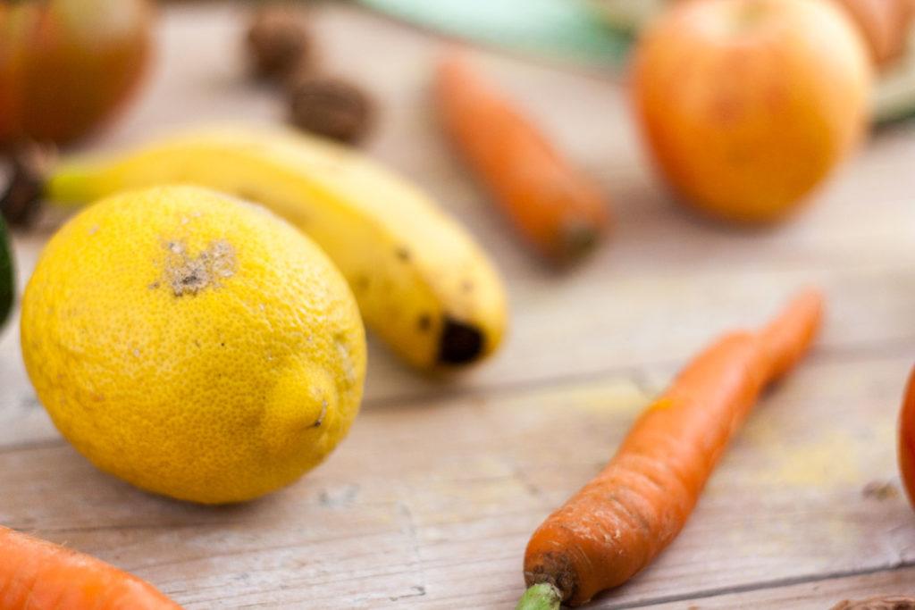 Limon zanahoria platano manzana