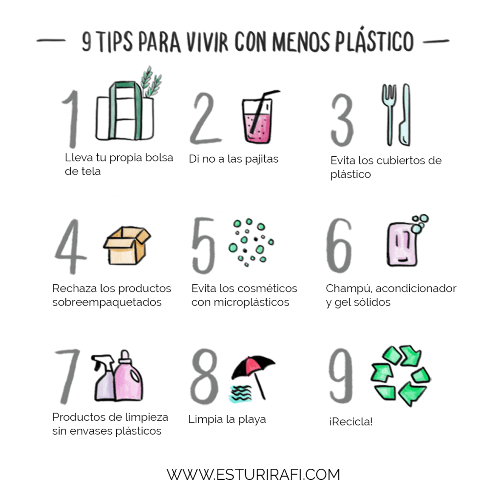 9 tips para vivir con menos plastico