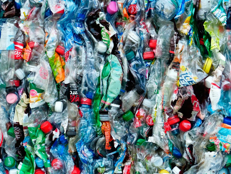 botellas de plastico prensadas