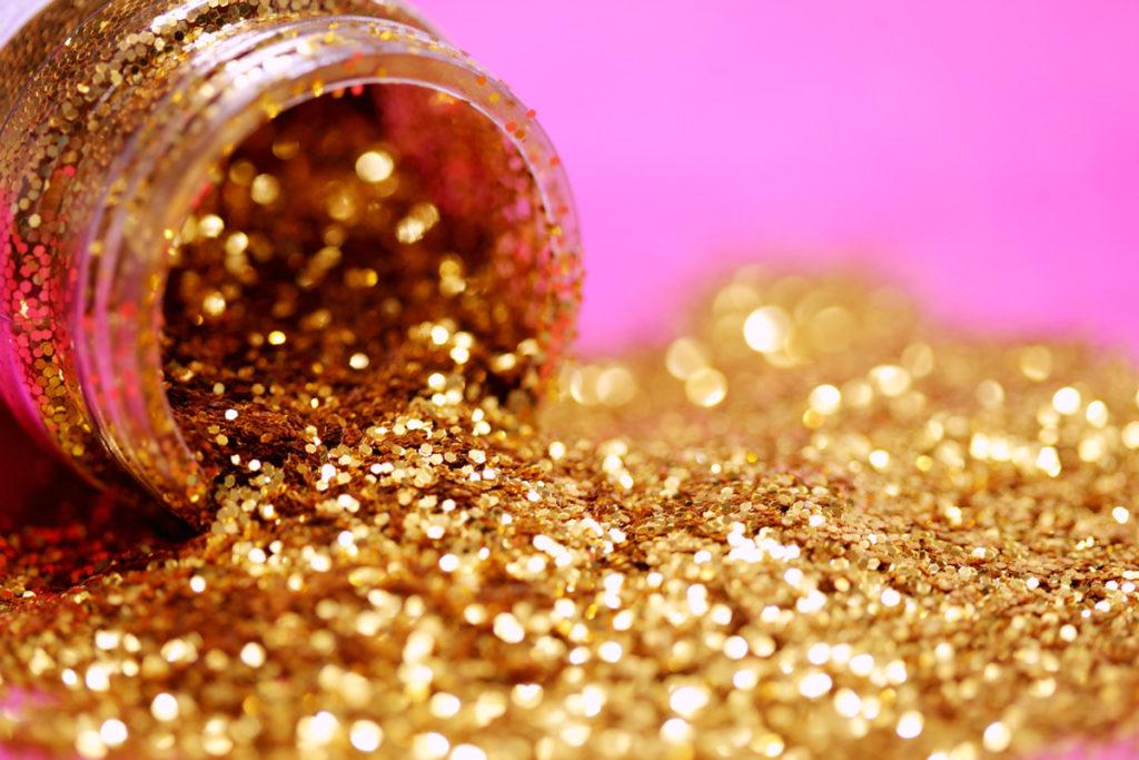 purpurina dorada