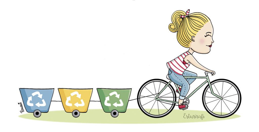 reciclar-chica-bicicleta