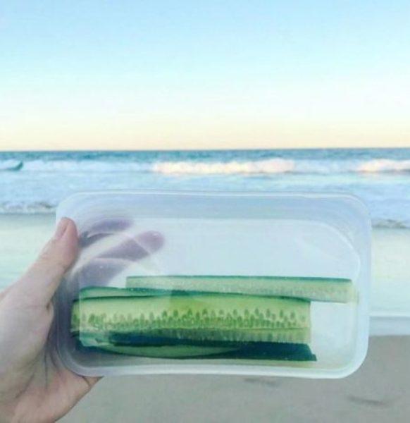 Stasher Bag Sandwich – Bolsa de silicona platino reutilizable