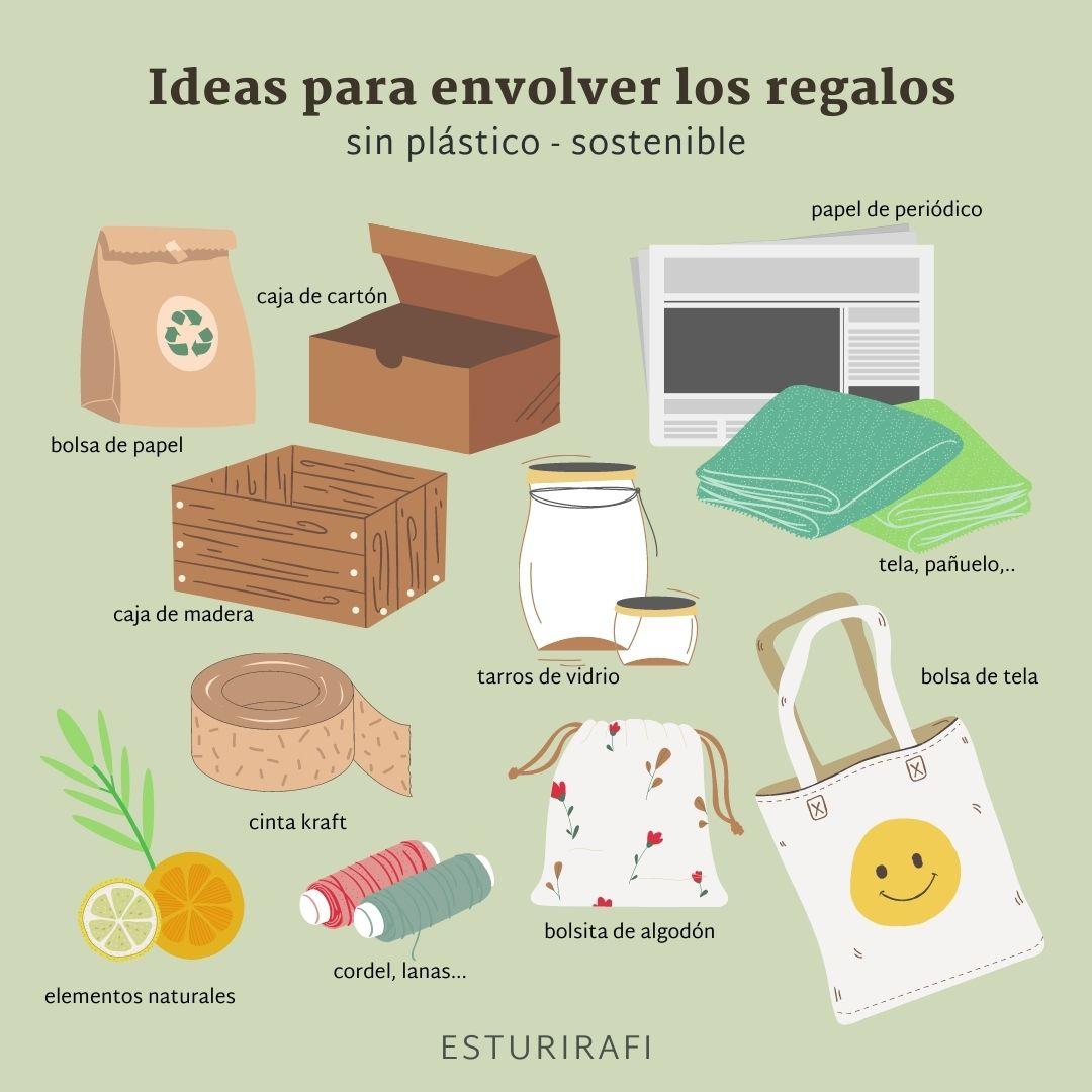 Ideas Para Envolver Los Regalos De Forma Sostenible Y Sin Plástico Esturirafi