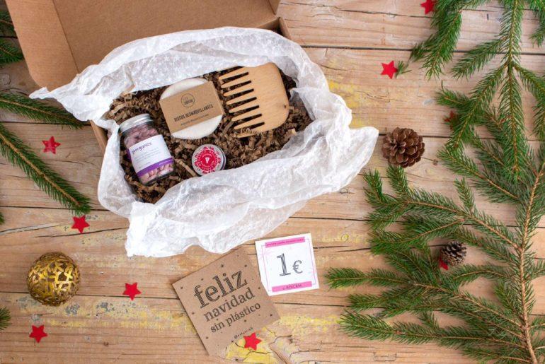 Packs regalo zero waste Esturirafi. Navidad sostenible y solidaria