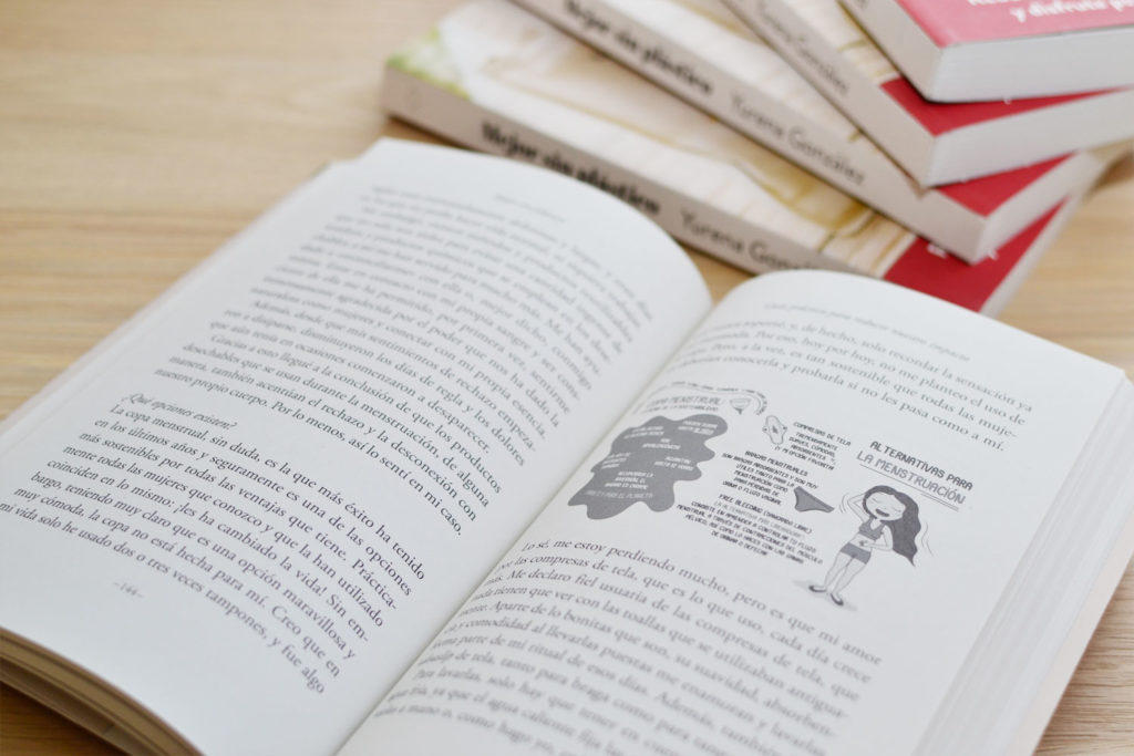 libro mejor sin plástico abierto ilustración