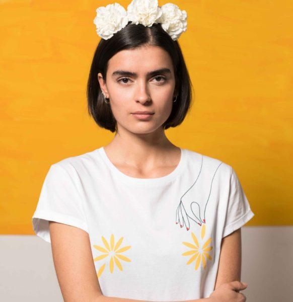 Camiseta-Algodón-Flores-moda-sostenible