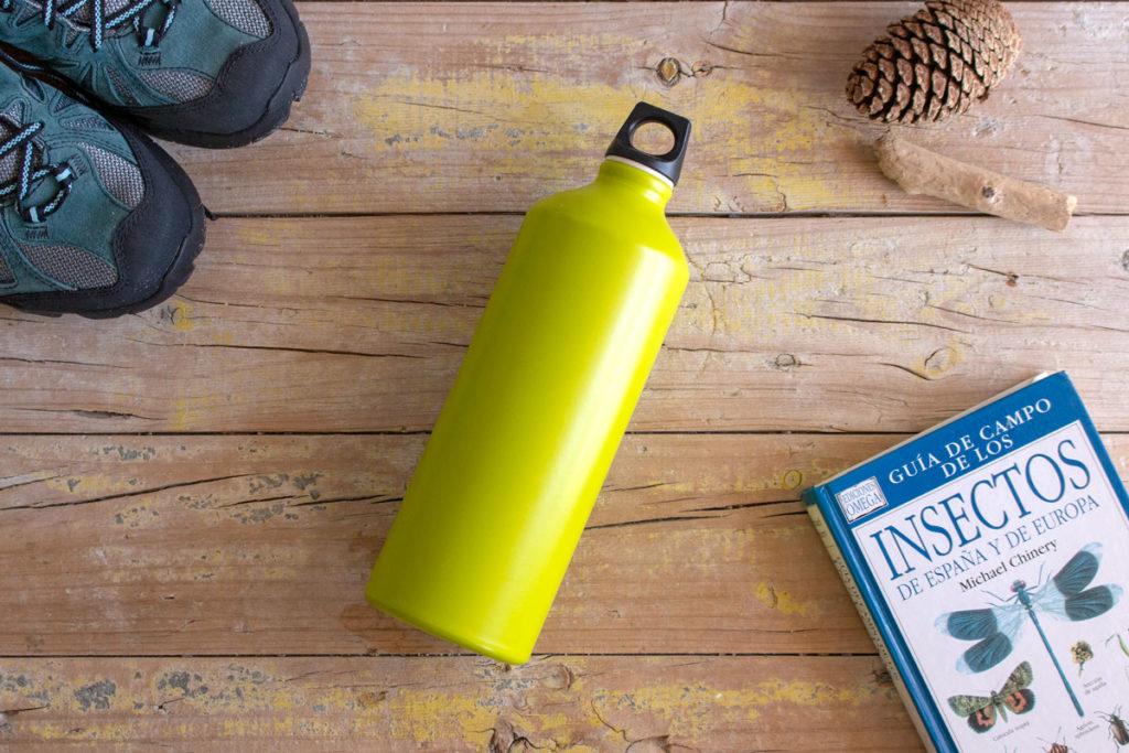 botella reutilizable aluminio
