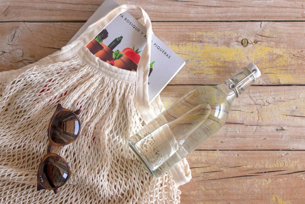 botella reutilizable de vidrio