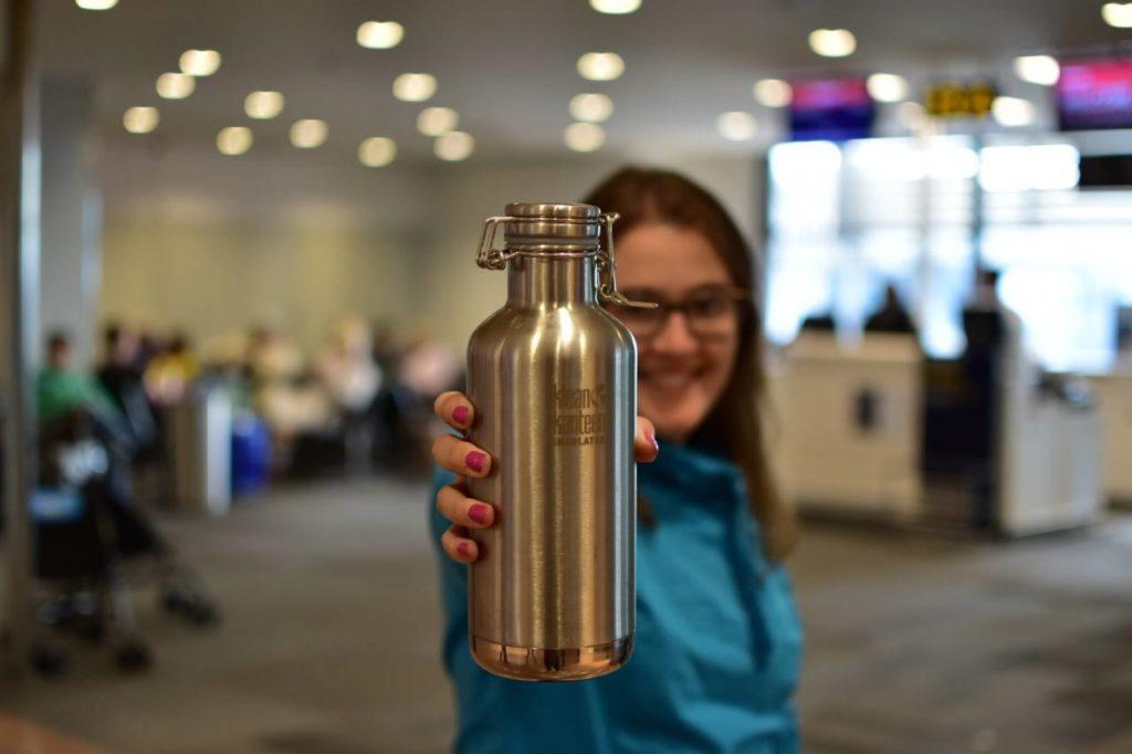 Viajar sin plástico. Botella reutilizable
