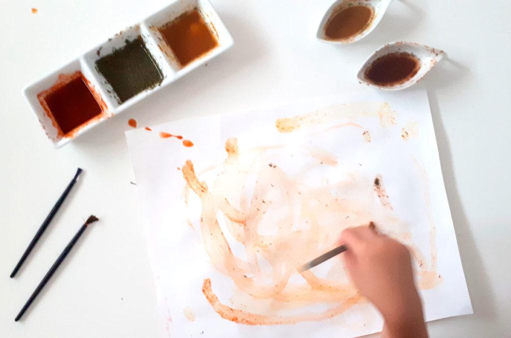 pintando con especies