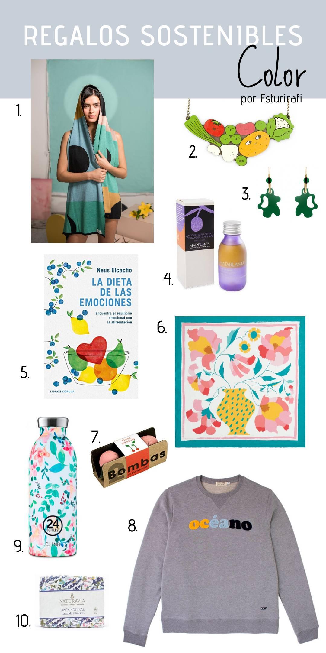 regalos sostenibles mujer navidad 2019 color