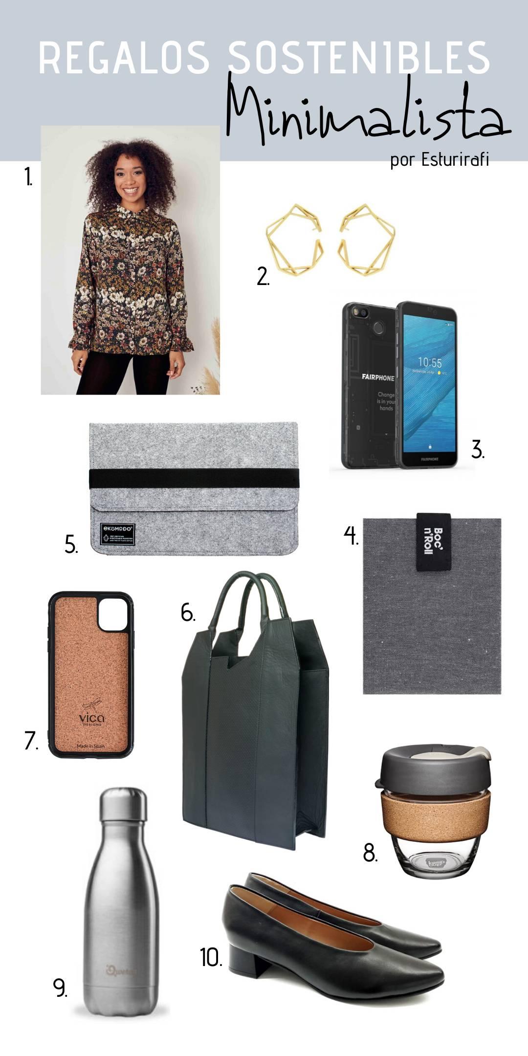 Ideas regalos sostenibles y ecologicos minimalistas para mujer cosmopolita y elegante