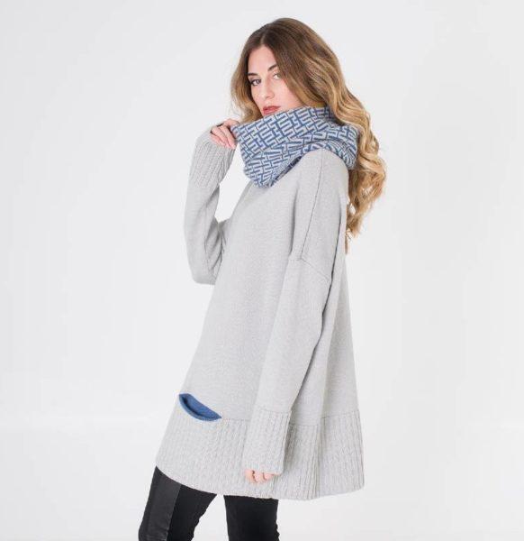 Moda-sostenible-Irema-Slow-Fashion-cuello-lana-reversible-estampado