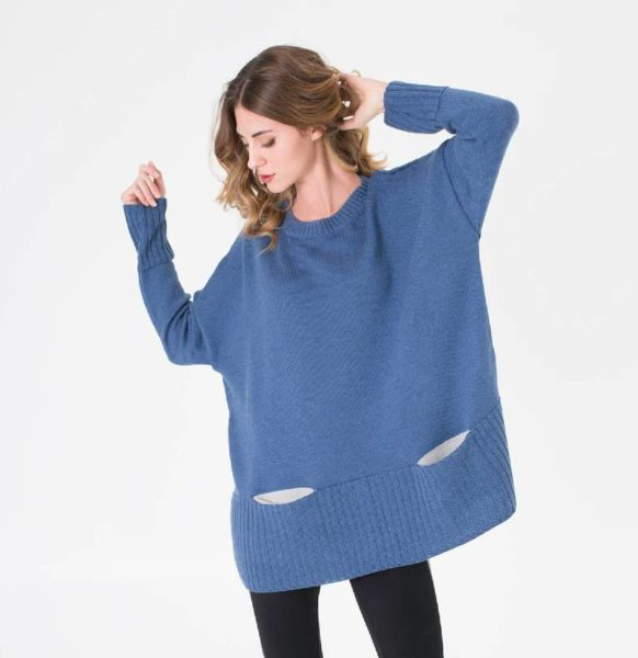 Moda-sostenible-Irema-Slow-Fashion-jersey-azul-mujer