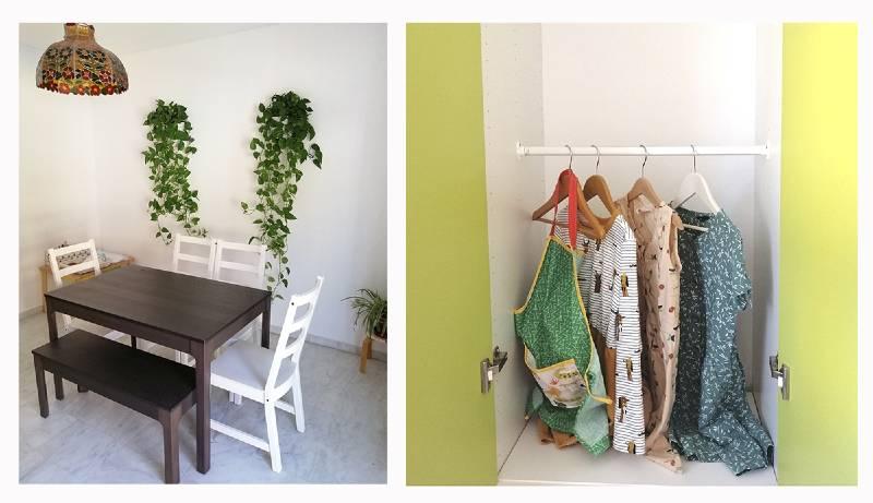 minimalismo en familia armario organizado salón minimalista