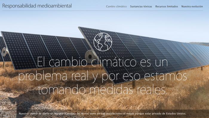 Web responsabilidad medioambiental Apple
