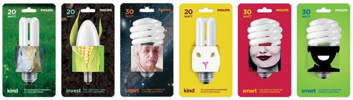 Philips energy savers via Thinkverylittle