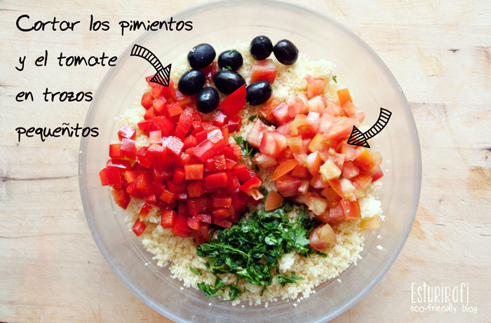 Las recetas de Esturirafi. Ensalada de cuscus #recetas