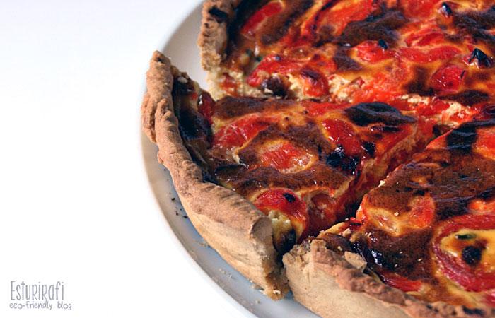 Las recetas de Esturirafi. Quiche de pimiento rojo y queso azul #recetas