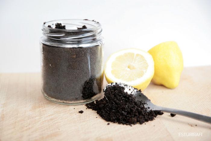 exfoliante casero de cafe azucar moreno aceite de oliva limon