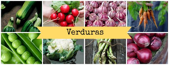 Verduras de temporada del mes de marzo